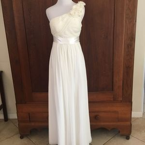 Oleg Cassini Formal Gown White Size 0